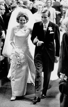 10 mars 1966 : Mariage la princesse Béatrix des Pays Bas et du prince Claus Georg von Amsberg à la Cathedrale de Westenberg