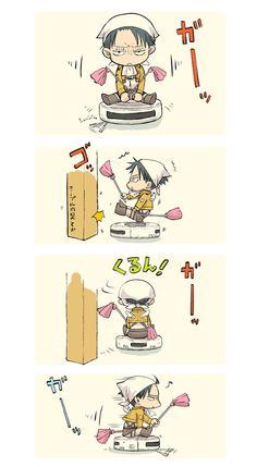 Character: Rivaille (Levi) Anime: Attack on Titan [Shingeki no Kyojin] Attack on Romba. XD