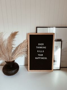 over thinking kills your happiness Campfire Cookies, Chef Quotes, Quote Of The Week, Holiday Wreaths, Wise Words, Happiness, Happy, Instagram, Campfire Biscuits