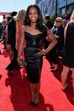 Gabrielle Douglas Little Black Dress