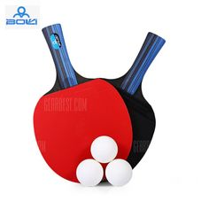 BOLI A10 2pcs / Set Table Tennis Ping Pong Racket with Ball #Shoproads #onlineshopping #Other Sports & Accessories