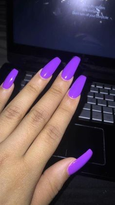 Nails ideas acrylic coffin with initials 62 trendy Ideas mit Initialen Nails ideas acrylic coffin with initials 62 trendy Ideas Aycrlic Nails, Neon Nails, Cute Nails, Trendy Nails, Bright Nails Neon, Bright Summer Nails, Color Nails, Purple Acrylic Nails, Best Acrylic Nails