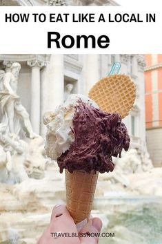 Get tips from a local on the authentic foods you have to try in Rome, where to find them and how to choose a food tour. How to eat like a local in Rome! Italy Travel Tips, Rome Travel, Europe Travel Guide, Sicily Travel, Travel Guides, Best Pizza In Rome, Best Gelato In Rome, Best Restaurants In Rome, Rome Food