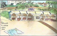 El Huerto. Playa de la Fontanilla Lápices acuarelables