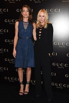 Charlotte Casiraghi and Frida Giannini attend Gucci Beauty Launch Event Hosted By Frida Giannini during the Milan Fashion Week Womenswear Spring/Summer 2015 on September 2014 in Milan, Italy. Charlotte Casiraghi, Celebrity Dresses, Celebrity Style, Princess Caroline Of Monaco, Princess Charlotte, Fashion Show, Fashion Looks, Milano Fashion Week, Milan Fashion