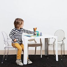 Transform Your Childu0027s Room With A Super Cute Craft Corner, The Replica  Kids Philippe Starck Ghost Table From Simpel.