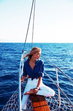 How to Be Best Dressed on a Boat This Summer via @WhoWhatWear