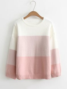 SheIn offers Color Block Jumper Sweater & more to fit your fashionable needs. Girls Fashion Clothes, Teen Fashion Outfits, Outfits For Teens, Girl Fashion, Style Grunge, Grunge Look, 90s Grunge, Soft Grunge, Grunge Outfits