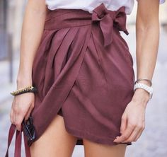 Buy Womens Skirt Draped Spring Burgundy Flax Skirts at Wish - Shopping Made Fun Chic Outfits, Summer Outfits, Fashion Outfits, Womens Fashion, Fashion Skirts, Outfit 2017, Cute Fashion, Fashion Beauty, Couture