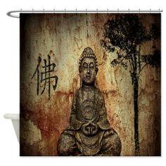 Buddha Abstract Art Shower Curtain $57.99 Cafépress.com