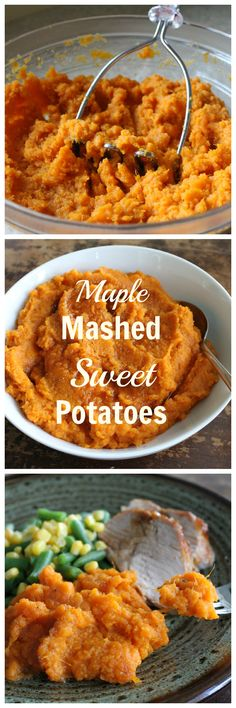 Maple Mashed Sweet Potatoes are quick and easy. Perfect for holidays or anyway! {Brittany's Pantry}