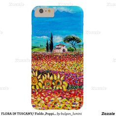 FLORA IN TUSCANY/ Fields ,Poppies and Sunflowers Barely There iPhone 6 Plus Case