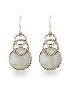 Rose Gold & Mother-of-Pearl Interwoven Circle Drop Earrings by Amabel Designs #zulily #zulilyfinds