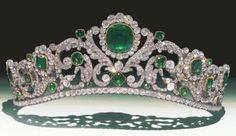 The Duchess of Angoulême's Emerald Tiara via The Royal Order of Sartorial Splendor.