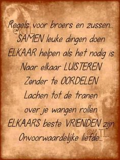 Broers en zussen Slice Of Life, Sisters, Personalized Items, Happy, Quotes, Petra, Friendship, Future, Fun