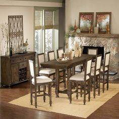 Beautiful Tall High Dining Gathering Set  dinetteonline.com