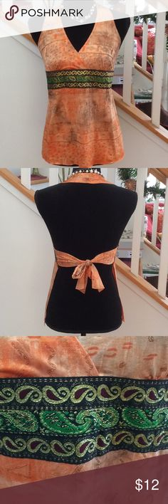 💕Sexy top with open back, NWOT Sexy halter tank style with open back/tie. NWOT in pristine condition. Body Central Tops
