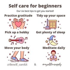 How To Better Yourself, Take Care Of Yourself, Mental Health Check, Self Care Activities, Move Your Body, Practice Gratitude, Self Compassion, Self Improvement Tips, Self Care Routine