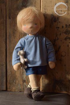 Waldorf Doll by Waldorfdollshop Boy Doll Clothes, Doll Clothes Patterns, Doll Patterns, Doll Toys, Baby Dolls, Fabric Toys, Paper Toys, Little Pet Shop Toys, Homemade Dolls