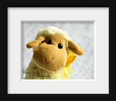 Stuffed Sheep Yellow Nursery Photography by CrystalGaylePhoto, $18.00