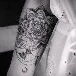 тату цветок мандала - фото классной татуировки от 21122015 № 3
