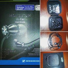 Nuevos pares!!! #sennheiser Momentum In-Ear Black Chrome  #audiohigh #headphones #hiresaudio
