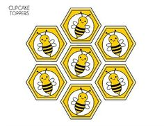 FREE Bumble Bee Party Printables from Printabelle Kostenlose Bumble Bee Party Ausdrucke von Printabelle Bee Template, Bumble Bee Cupcakes, Cupcake Toppers Free, Bee Party, Ladybug Party, Spelling Bee, Bee Crafts, Bee Theme, Party Printables