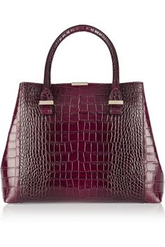 Victoria Beckham | Quincy croc-effect leather tote | NET-A-PORTER.COM