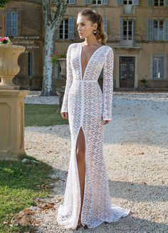 Vestido de novia con abertura al costado 2015-1