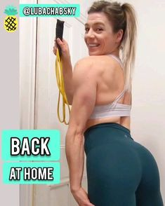 AT HOME BACK WORKOUT - Resistance Bands! - You are in the right place for diy face mask sewing pattern Here we present diy home decor you - Chest Workout Women, Back Workout Women, Sport Fitness, Fitness Tips, Workout Fitness, Bra Fat Workout, Gym Workouts, At Home Workouts, Back Workout At Home