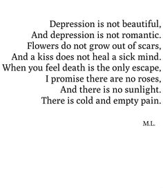 """Self harm and mental illness are NOT """"tragically beautiful"""" or deep. Stop."""