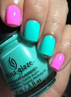 Colores de Carol: China Glaze - To Yacht To Handle and Bottoms Up