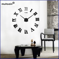 Special offer 2017  New Arrival Quartz Clocks fashion watches 3D real Big promotion home decor large roman mirror fashion modern 90x90cm  just only $9.44 with free shipping worldwide  #clocks Plese click on picture to see our special price for you