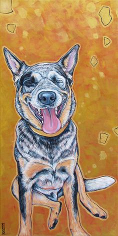 12 x 24 Custom Pet Portrait Painting in by bethanysalisbury