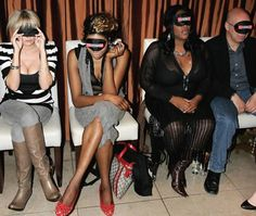 The 2006 Naked Fragrance Fashion Show hosted by Perfume Shop previewed nude models wearing nothing but fragrances. The audience was blindfolded so they wouldn't be distracted while they assessed each scent.