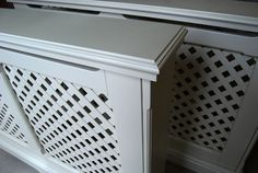Bespoke radiator covers with lattice grille Valet Stand, Radiator Cover, Radiators, Cover Design, Bespoke, Shelves, House, Style, Shelving