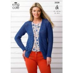 Cardigan and Top in King Cole Smooth DK (3528) £2.99