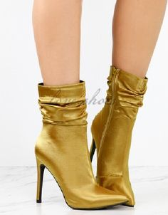 702a66d70f36f Custom Made Office Lady Fancy High heel Shoes Sexy Women Stiletto Pointed  Toe Sock Ankle Boots