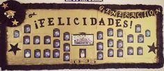 Periódico mural de fin de cursos. Graducación Board Decoration, Kindergarten Graduation, Graduation Decorations, Classroom Decor, Diy And Crafts, Invitations, Teaching, Education, School