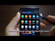 How to see battery as a bar at the top of the screen - Energy Bar - A pulsating Battery indicator - Andrasi.ro