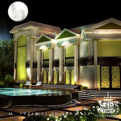 Luxury Exterior design from CASAPRESTIGE. www.casaprestige.ae  #Luxury #exterior #pool #design Luxury Home Decor, Luxury Interior Design, Best Interior, Luxury Mansions, Villa Design, Exterior Design, Pools, Beautiful Homes, Architecture Design