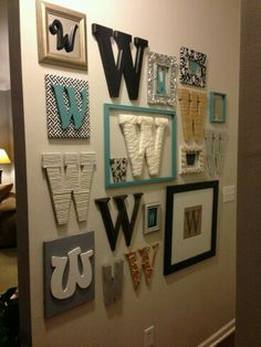 Wall of letters