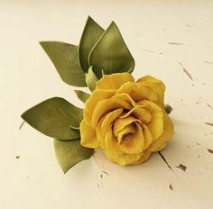 Брошь, ручная  работа, роза, цветок, фоамиран, пластичная  замша