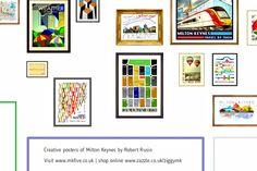 Poster art of Milton Keynes by popular art-creative, Robert Rusin.