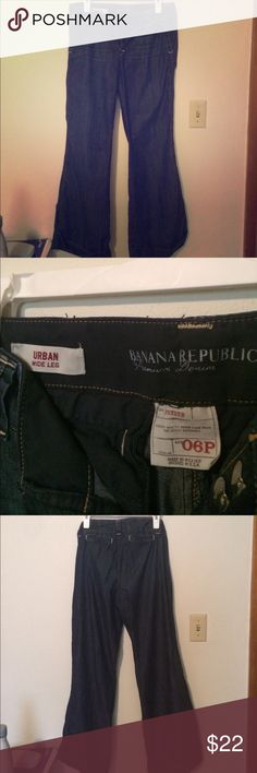 Wide Leg Jeans Wide leg jeans from Banana Republic with an awesome vintage 70s vibe! Banana Republic Jeans Flare & Wide Leg