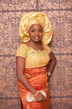 BellaNaija Bride Solape Photography by Libran Eye  Fabrics by Tisbee Makeup by Unveil Makeovers beads Nigerian Wedding Makeup yoruba wedding naija bride gele aso oke lace wrapper