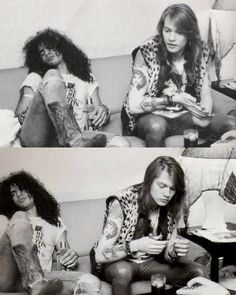 Slash and Axl Rose - cuteoutfitss Guns N Roses, Jack White, Axl Rose Slash, Saul Hudson, Intimate Photos, Welcome To The Jungle, Rock Legends, The Duff, Celebrity Weddings