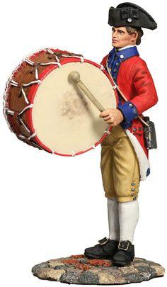 W Britain Soldier 18034 American Revolution Virginia State Garrison Bass Drummer - Exclusive Item