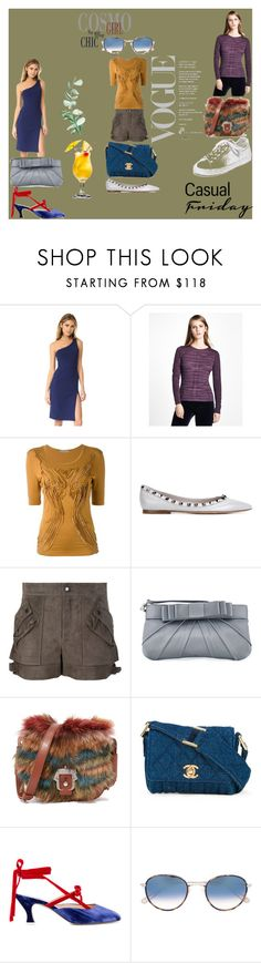 """casual friday¶"" by racheal-taylor ❤ liked on Polyvore featuring Susana Monaco, Brooks Brothers, Issey Miyake, Valentino, Helmut Lang, Love Moschino, Paula Cademartori, Chanel, Attico and Garrett Leight"