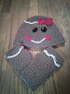 Girl gingerbread with fingerless gloves